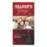 Sparkly Christmas Tree Holiday Photocard (red)