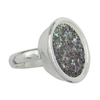 Sparkly colourful silver mosaic