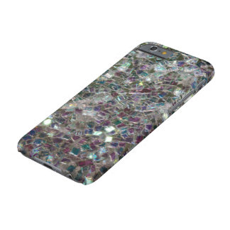 Sparkly colourful silver mosaic barely there iPhone 6 case