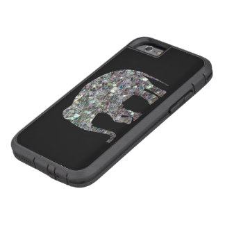 Sparkly colourful silver mosaic Elephant Tough Xtreme iPhone 6 Case