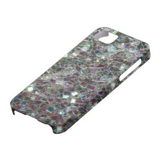 Sparkly colourful silver mosaic iPhone 5 case