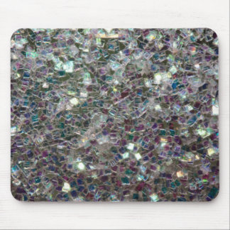 Sparkly colourful silver mosaic mouse mat