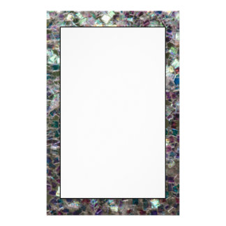 Sparkly colourful silver mosaic personalised stationery