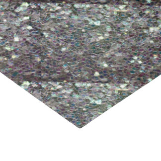 Sparkly colourful silver mosaic tiled pattern tissue paper