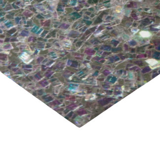 Sparkly colourful silver mosaic tissue paper
