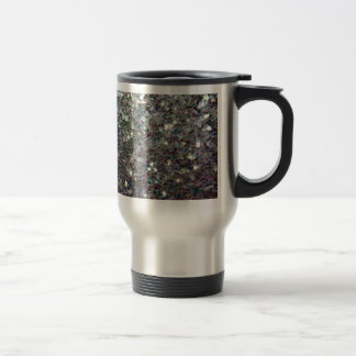 Sparkly colourful silver mosaic travel mug