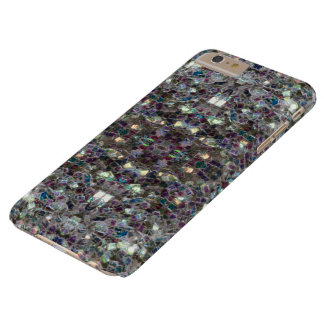 Sparkly colourful silver mosaic v4 - Mandala Barely There iPhone 6 Plus Case