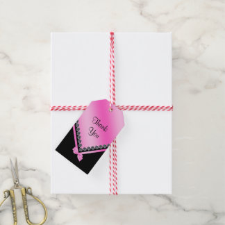 Sparkly Diamonds & Pink Bow 50th Birthday Gift Tags