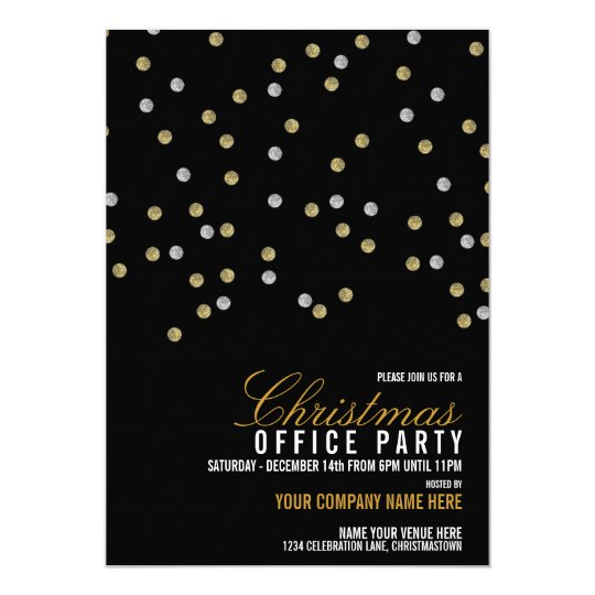Sparkly Dots Christmas Office Party Invitation