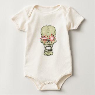 Sparkly-eyed Skull Baby Bodysuit