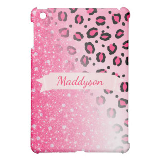 Sparkly Faux Glitter Leopard Print For Teen Girls Case For The iPad Mini