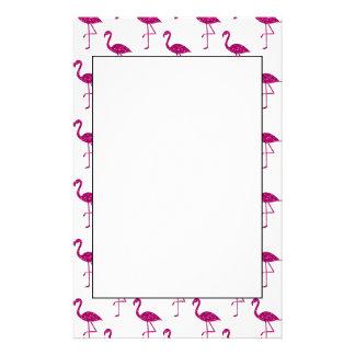 Sparkly flamingo Pink glitter sparkles pattern Stationery