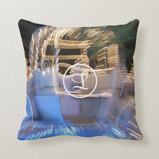 Sparkly gold princess coach photo custom monogram cushion