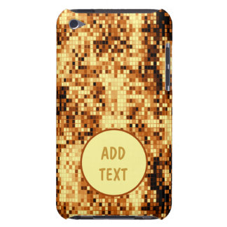 Sparkly gold tiled iPod touch cases