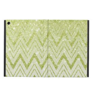 Sparkly Green Glitter Chevron Pattern iPad Air Cover