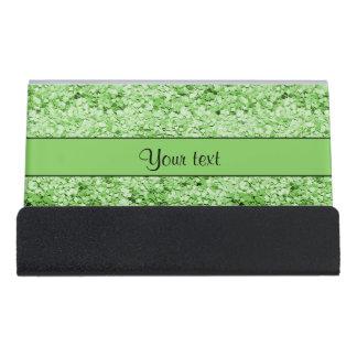 Sparkly Green Glitter Desk Business Card Holder