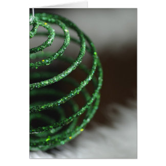 Sparkly Green Ornament (holiday card) Card