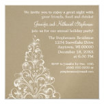 Sparkly Holiday Tree Invite, Latte 13 Cm X 13 Cm Square Invitation Card