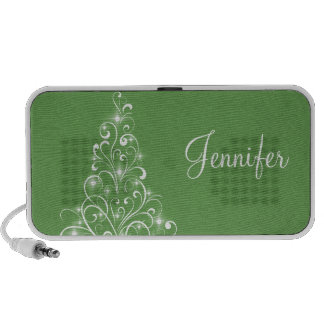 Sparkly Holiday Tree Speaker, Green