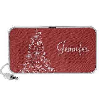 Sparkly Holiday Tree Speaker, Red