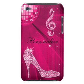 Sparkly Hot Pink Music Note & Stiletto Heel Case-Mate iPod Touch Case