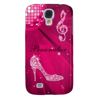 Sparkly Hot Pink Music Note & Stiletto Heel Galaxy S4 Case