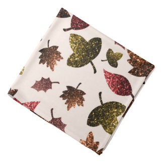 Sparkly leaves fall autumn sparkles pattern bandana