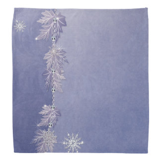 Sparkly Leaves Snowflakes Bandanna