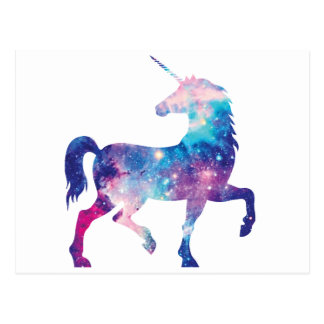 Sparkly Magical Unicorn Postcard