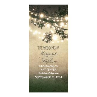 sparkly night lights romantic wedding programs custom rack card