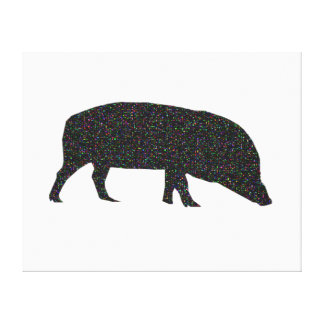 Sparkly Pig Canvas Print