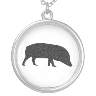 Sparkly Pig Necklace
