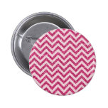 Sparkly Pink Glitter Chevron Stripe Buttons