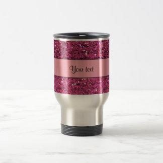 Sparkly Pink Glitter Travel Mug