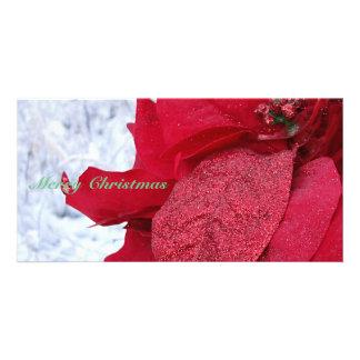 Sparkly Poinsettia Card