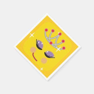 Sparkly Princess Emoji Disposable Napkins