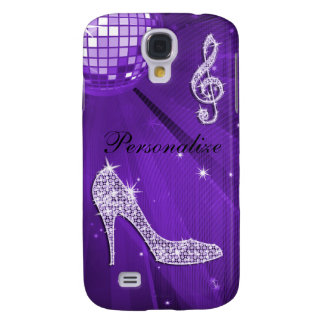 Sparkly Purple/ Lilac Music Note & Stiletto Heel Galaxy S4 Case