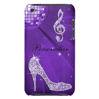 Sparkly Purple/ Lilac Music Note & Stiletto Heel iPod Touch Case