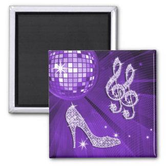 Sparkly Purple/ Lilac Music Note & Stiletto Heel Magnet