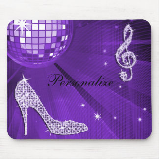 Sparkly Purple/ Lilac Music Note & Stiletto Heel Mouse Pad