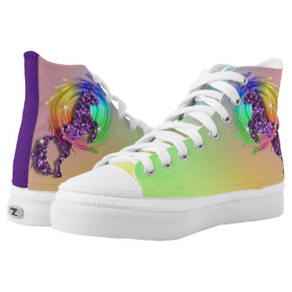 Sparkly Purple Unicorn Ombre Rainbow High Tops