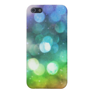 Sparkly Rainbow Bokeh Texture i iPhone 5 Cover