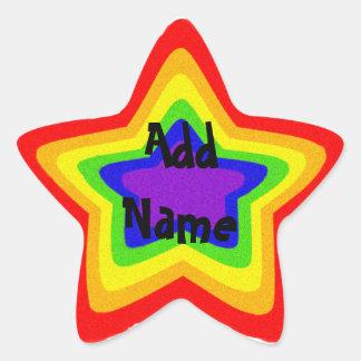 Sparkly rainbow star star sticker