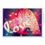 Sparkly Red Heart I Love You Card