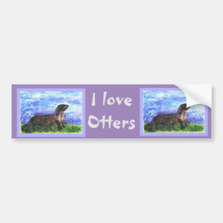 Sparkly River Otter Bumper Stickers