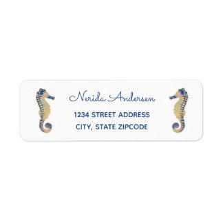 Sparkly Seahorse Address Label