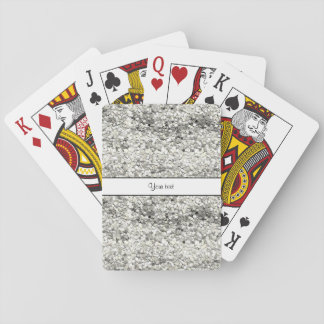 Sparkly Silver Glitter Playing Cards