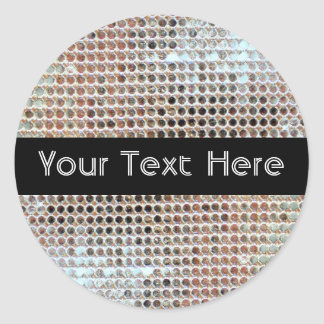 Sparkly Silver Sequins Party Sticker