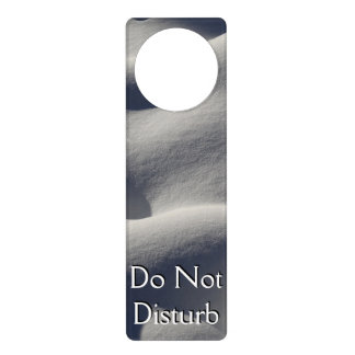 Sparkly Snow Mounds Abstract Nature Photography Door Hanger