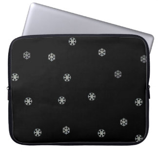 Sparkly Snowflakes Computer Sleeves